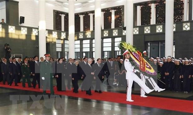 Inician acto funebre en homenaje a Do Muoi, exsecretario general del Partido Comunista de Vietnam hinh anh 1