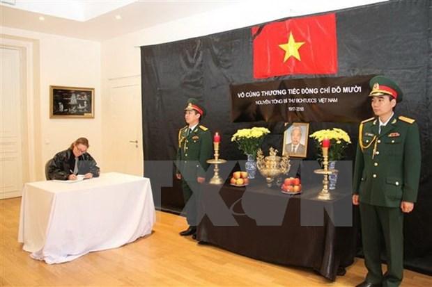Embajadas de Vietnam en exterior efectuan honras funebres por Do Muoi, exsecretario general del Partido Comunista hinh anh 1