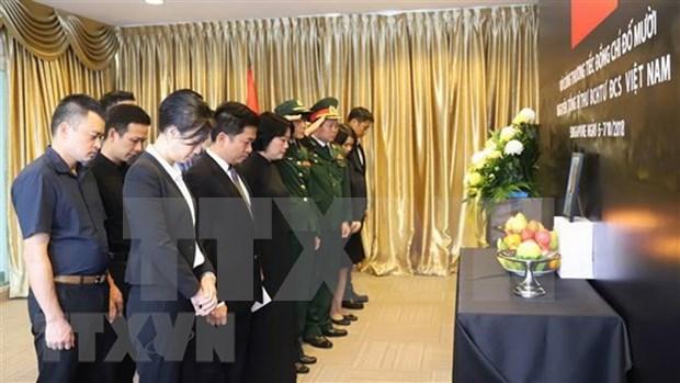 Ceremonias memoriales al exsecretario general Do Muoi en Asia hinh anh 1