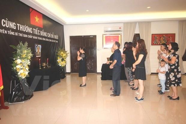 Ceremonias memoriales al exsecretario general Do Muoi en Asia hinh anh 3