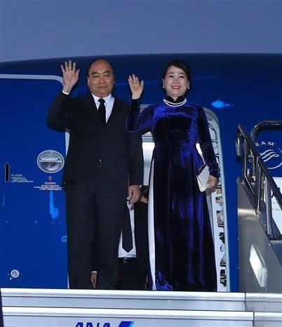 Premier vietnamita llega a Tokio para participar en X Cumbre Mekong- Japon hinh anh 1