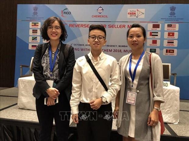 Vietnam participo en la Feria de industria quimica en la India hinh anh 1