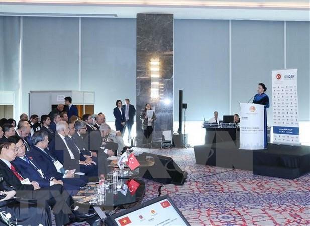 Presidenta del Parlamento de Vietnam estimula inversiones turcas hinh anh 1