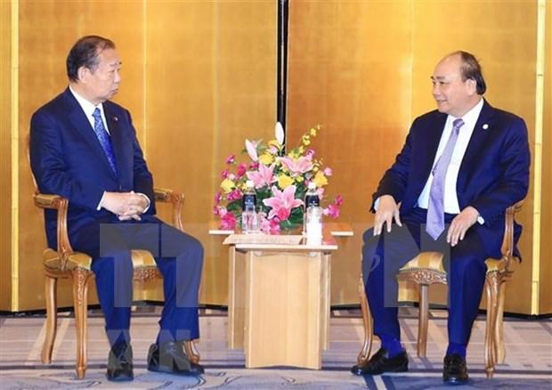 Premier de Vietnam continua intensa agenda en Japon hinh anh 1