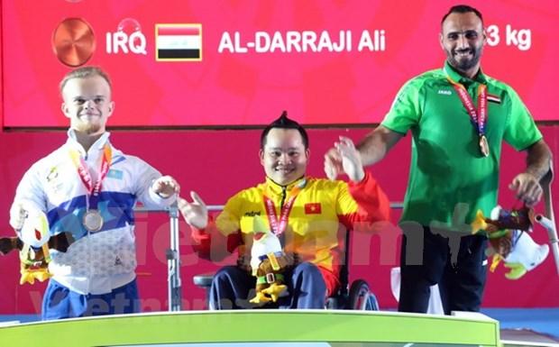 Vietnam obtiene segunda medalla dorada en Juegos Paralimpicos de Asia hinh anh 1