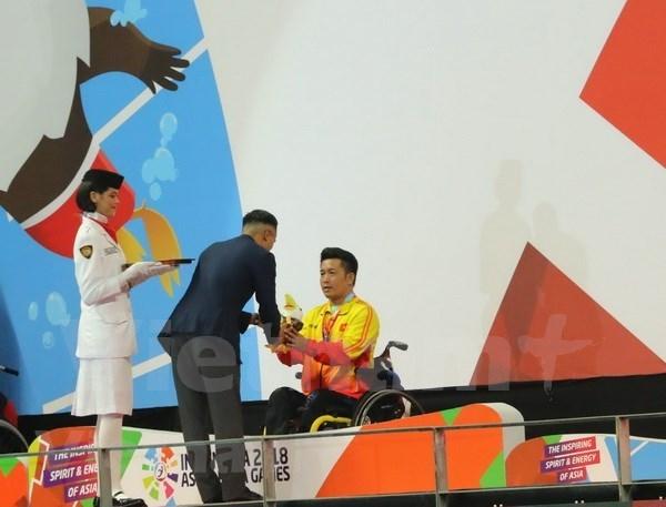 Vietnam gana oro en natacion en Juegos Paralimpicos de Asia hinh anh 1