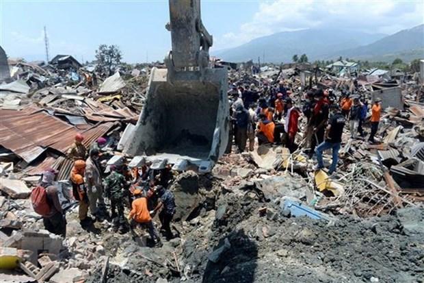 Millones de litros de combustible transportados a areas afectadas por tsunami en Indonesia hinh anh 1