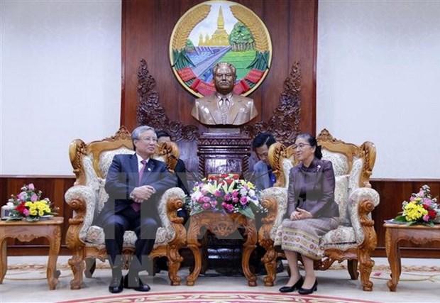 Dirigente partidista de Vietnam sugiere a Parlamento de Laos perfeccionar marco legal para cooperacion bilateral hinh anh 1