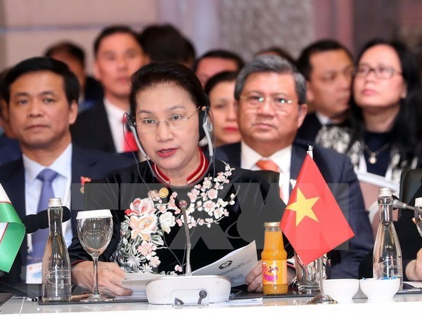 Vietnam exhorta a parlamentos euroasiaticos a respaldar impulso de conectividad economica hinh anh 1