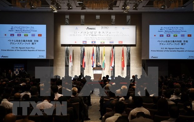 Premier de Vietnam asiste al Foro empresarial Mekong-Japon hinh anh 1