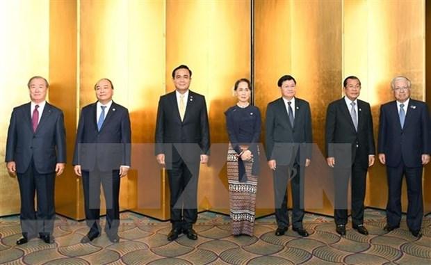 Dirigentes de paises del rio Mekong se entrevistan con emperadores de Japon hinh anh 1