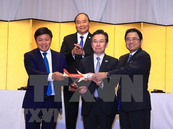 Aerolinea Vietjet Air inaugura tres rutas entre Vietnam y Japon hinh anh 1