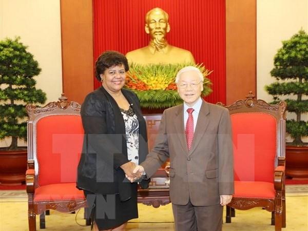 Dirigente partidista vietnamita reitera apoyo a causa revolucionaria del pueblo cubano hinh anh 1