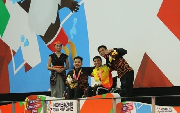 Nadador vietnamita rompe otro record en Juegos Paralimpicos de Asia hinh anh 1