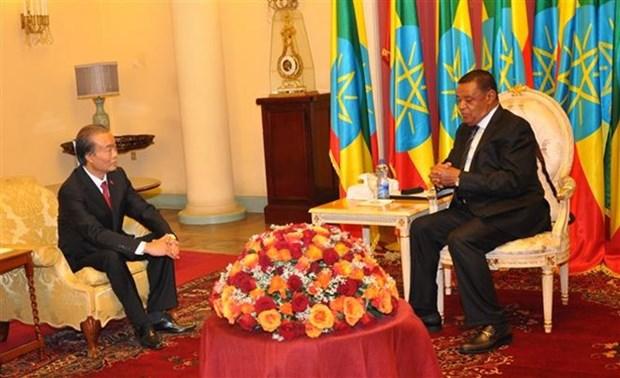 Presidente etiope pide a Vietnam reabrir su embajada en Addis Abeba hinh anh 1