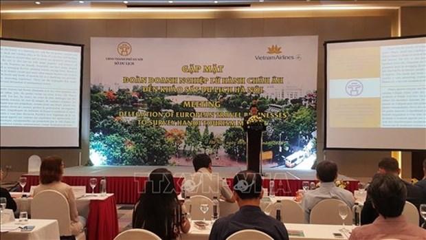 Representantes de agencias de viajes europeas visitan Hanoi para potenciar turismo hinh anh 1