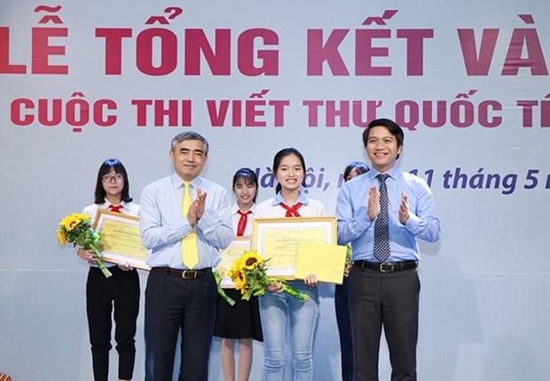 Estudiante vietnamita gana tercer premio del concurso epistolar de UPU hinh anh 1