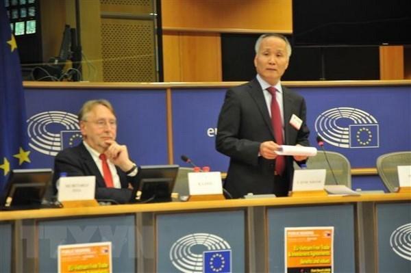 Parlamento Europeo efectua audiencia sobre Tratado de Libre Comercio entre Vietnam y UE hinh anh 1