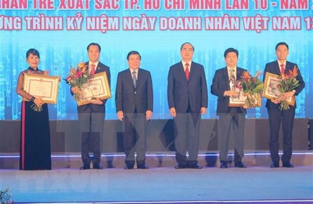 Ciudad Ho Chi Minh honra a empresarios jovenes destacados en 2018 hinh anh 1