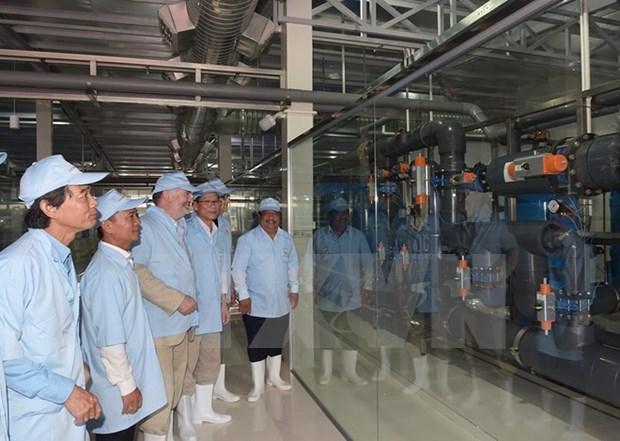 Inauguran mayor planta vietnamita de tratamiento de agua para sector camaronero hinh anh 1