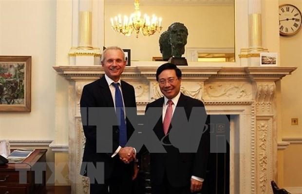 Vietnam y Reino Unido emiten declaracion conjunta sobre fortalecimiento nexos comerciales hinh anh 1