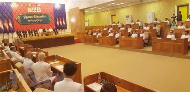 Senado camboyano elige nuevo vicepresidente primero hinh anh 1