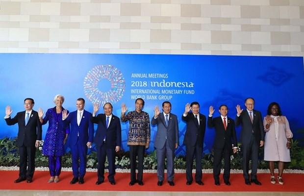 Premier de Vietnam asiste a sesion inaugural de reuniones anuales del FMI-BM hinh anh 1