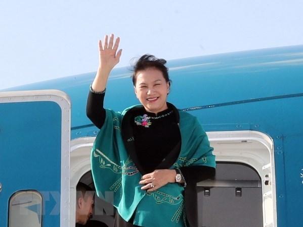 Maxima legisladora de Vietnam finaliza viaje para asistir a MSEAP 3 y visita a Turquia hinh anh 1