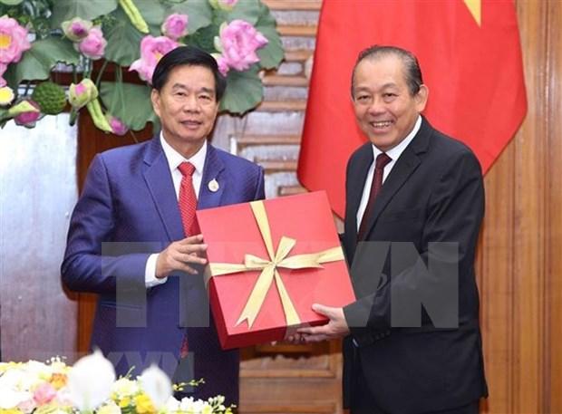 Dirigente partidista vietnamita destaca cooperacion interprovincial con Laos hinh anh 1