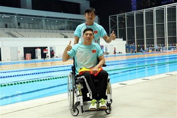 Vietnam suma cuatro medallas en quinto dia de competencia de Juegos Paralimpicos de Asia hinh anh 1