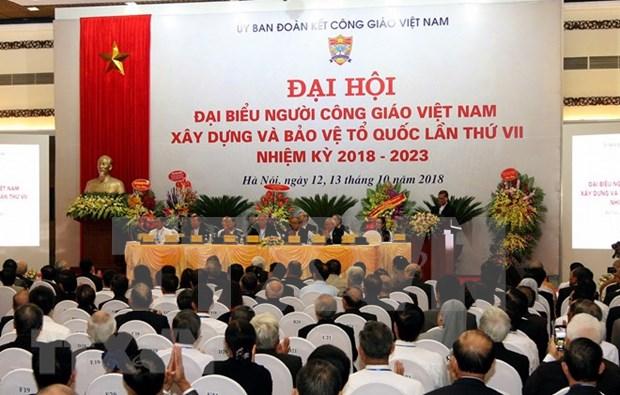 Efectuan septimo Congreso de catolicos vietnamitas dedicado a construccion y defensa nacional hinh anh 1