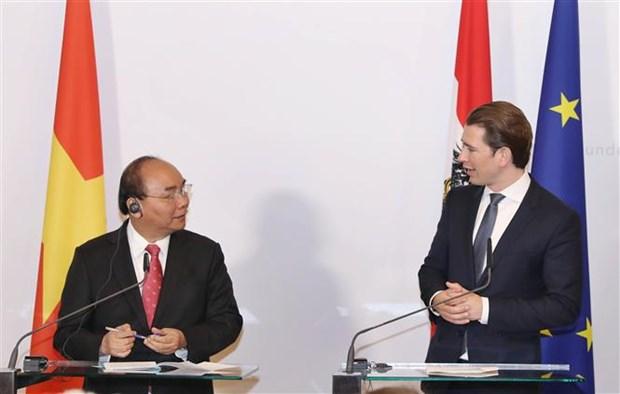 Premier vietnamita confia en desarrollo de relaciones con Austria hinh anh 1