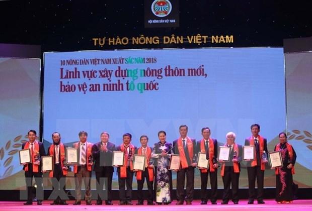 Honran a agricultores destacados de Vietnam durante este ano hinh anh 1