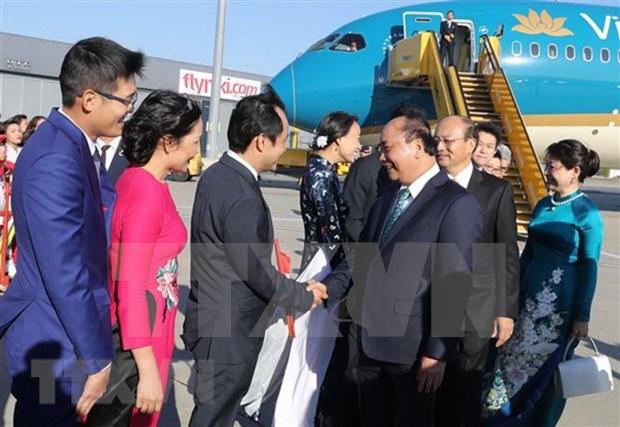 Premier de Vietnam inicia visita oficial a Austria hinh anh 1