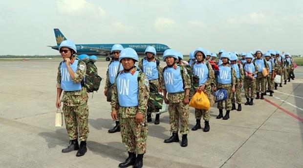 Vietnam concluye envio de combatientes a misiones de paz en Sudan del Sur hinh anh 1