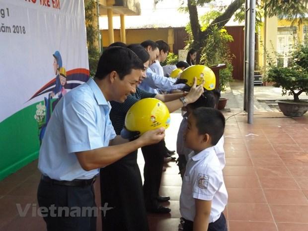 Corea del Sur ayuda garantizar seguridad del trafico para alumnos de Hanoi hinh anh 1