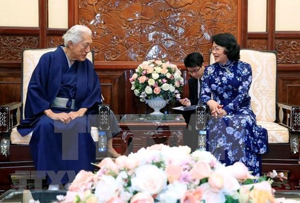 Presidenta interina de Vietnam recibe al gran maestro del Te de Escuela Urasenke hinh anh 1