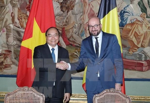 Premier belga afirma el respaldo a la firma y ratificacion de TLC entre UE y Vietnam hinh anh 1