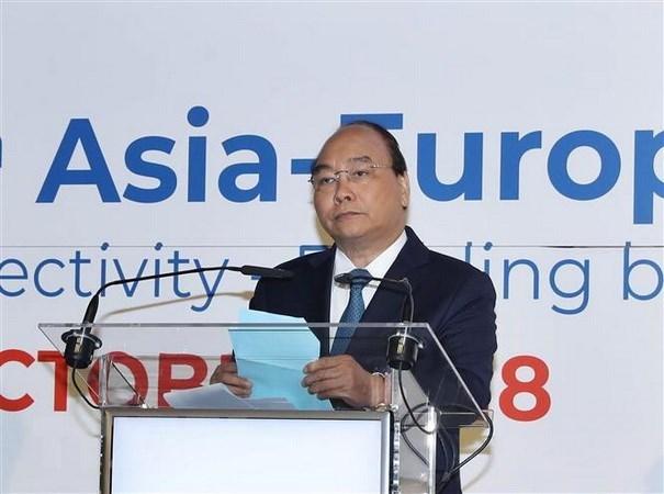 Premier vietnamita urge una cooperacion mas estrecha entre Asia y Europa hinh anh 1