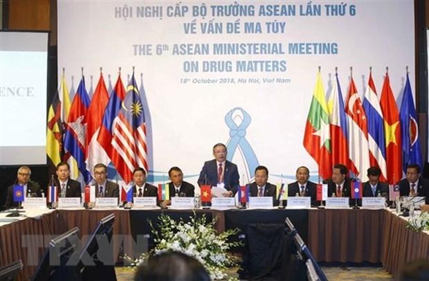 Paises de ASEAN persisten en construccion de una comunidad libre de drogas hinh anh 1