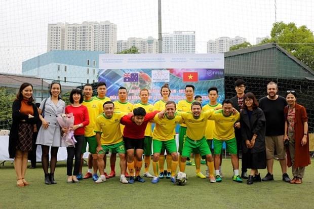 Concurso amistoso de futbol contribuye a enriquecer lazos Vietnam-Australia hinh anh 1