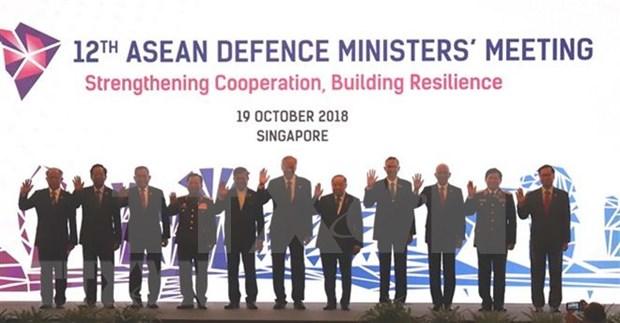 ADMM 12: ASEAN fortalece cooperacion militar con socios hinh anh 1