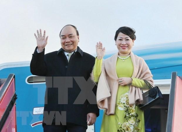 Premier vietnamita llega a Copenhague para la Cumbre PG4 y una visita a Dinamarca hinh anh 1
