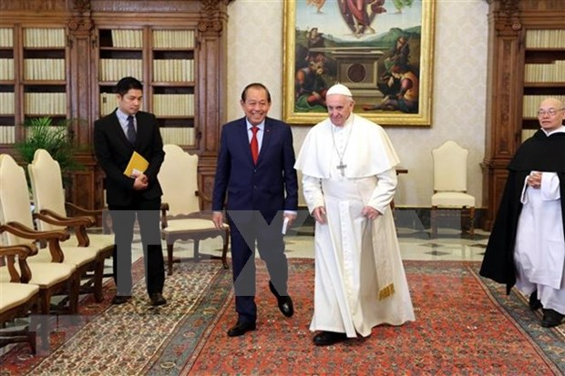 Vicepremier de Vietnam visita Vaticano hinh anh 1