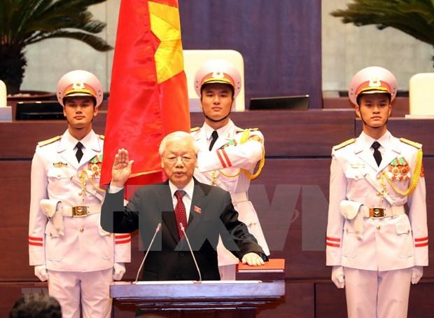 Maximo dirigente partidista de Vietnam jura su cargo como Presidente del pais hinh anh 1
