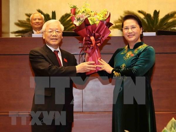 Presidente y dirigentes partidistas de la India congratulan al nuevo jefe de Estado de Vietnam hinh anh 1