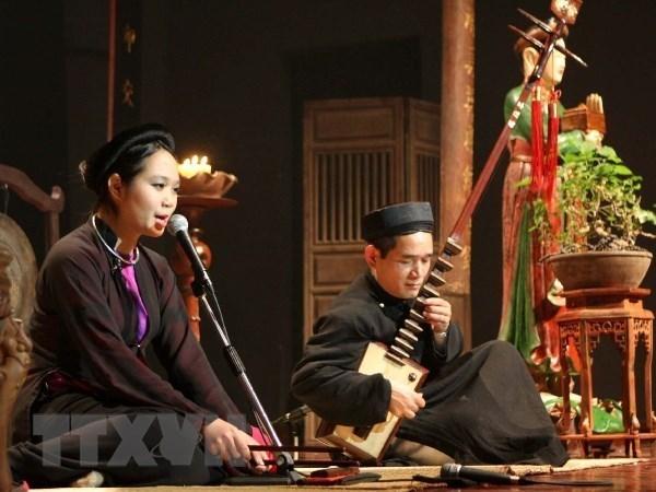 Celebraran festival de Ca Tru, tradicional musica vietnamita con estampa femenina hinh anh 1