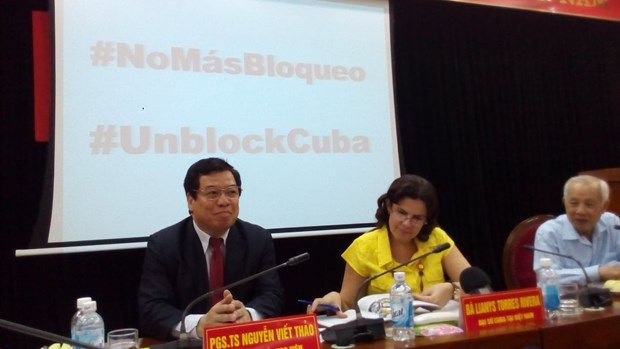 Exigen en Vietnam fin del bloqueo de Estados Unidos contra Cuba hinh anh 2