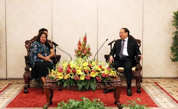 Delegacion de Federacion de Mujeres Cubanas visita Ciudad Ho Chi Minh hinh anh 1