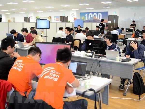 Equipos de Vietnam y Japon compiten en concurso de programacion de inteligencia artificial hinh anh 1